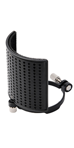 Pop Filter, Moukey [Upgraded Three Layers] Metal Panel amp; Metal Mesh amp; Foam