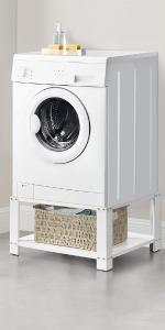 Socle pour machine à laver avec étagère.