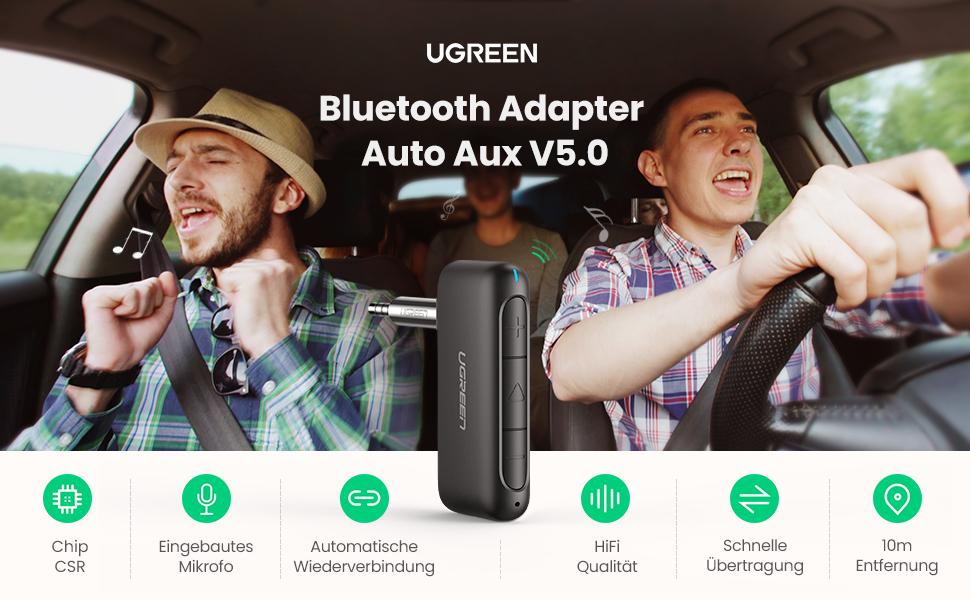Bluetooth Adapter Auto Aux V5,0