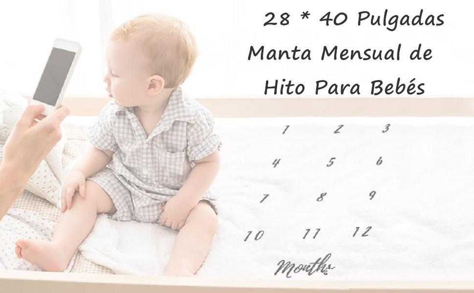 Decdeal Bebé Manta Mensual Hito Franela como Fondo Fotográfico ...