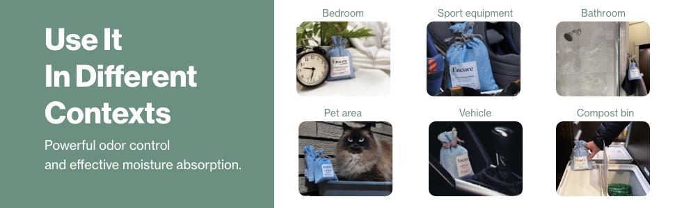powerful odor control effective moisture absorption pet area sport equipment bathroom bedroom