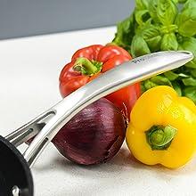 batterie de cuisine manche ergonomique casserole induction antiadhésif robuste cuisson sain