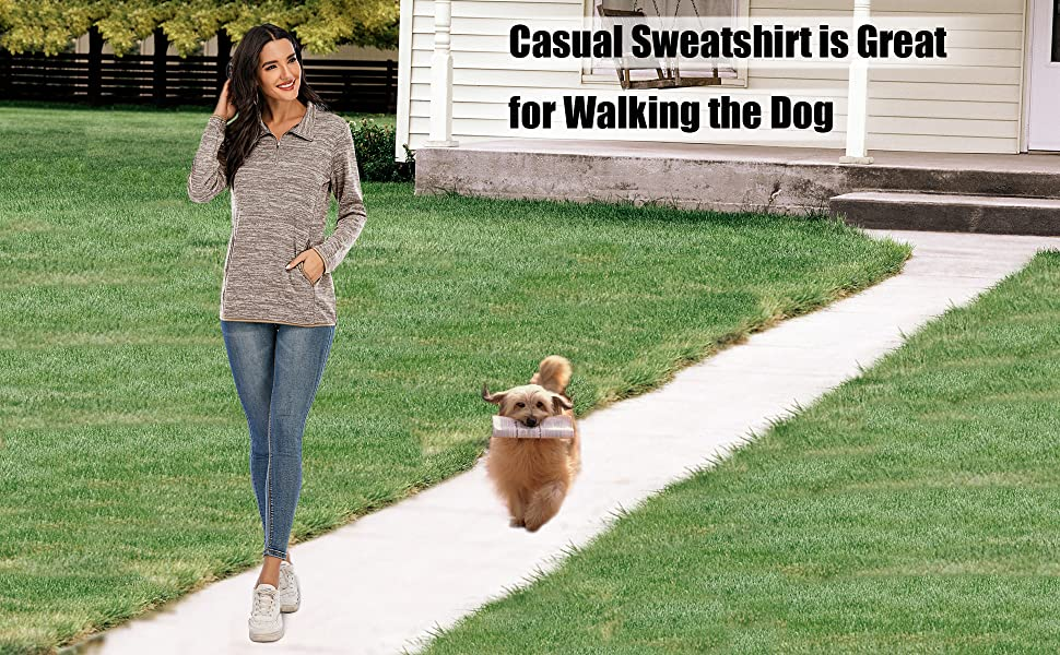 pullover comfy sweatshirts for women grey sweatshirt blue sweatshirt 1/4 zip pullover women