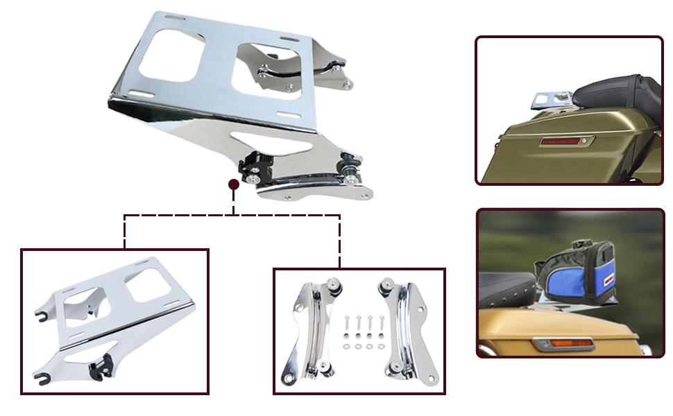 Mounting luggage rack