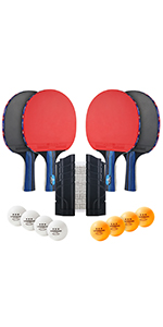 ping pong paddles set of 4 with net