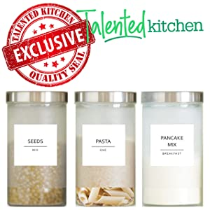 Talented Kitchen Fine Line minimalist label set