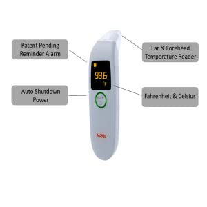 Ear & Forehead thermometer Reminder-food temperature scan