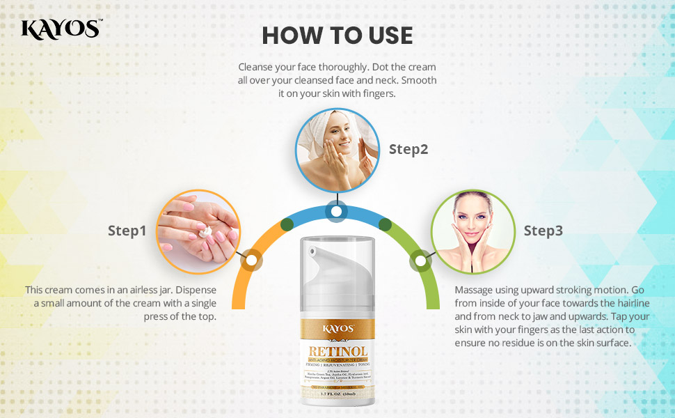 How to use Retinol cream