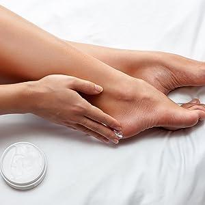 apply cream on feet