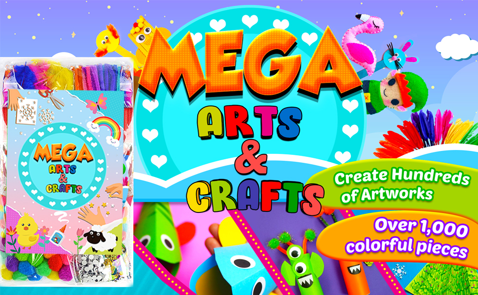 GoodyKing Arts and Crafts Supplies Kit for Kids -