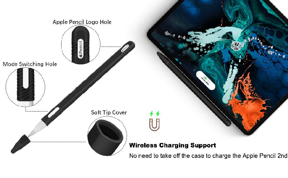 Amazon.com: gozahad Silicone Case Compatible with New Apple Pencil ...