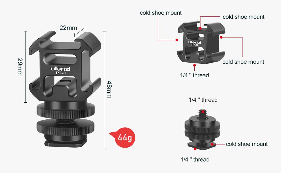 PT-3 gimbal microphone mount extension bracket