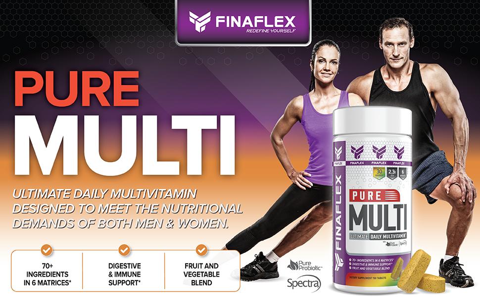 Amazon.com: Finaflex Pure Ultimate Daily Multivitamin 150 Count, 150 Count: Health & Personal Care