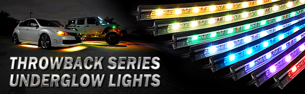 Car Underglow Lights Bluetooth Led Strip Lights Dream Color Chasing, APP Control Underbody Lights
