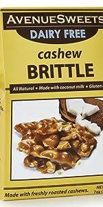 avenuesweets cashew brittle dairy free vegan cashew peanut brittle candy vegan candy plant based