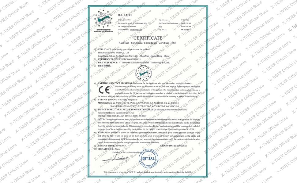 X-TIGER Gafas Ciclismo CE Certificación Polarizadas con 3 Lentes Intercambiables UV 400 Gaf