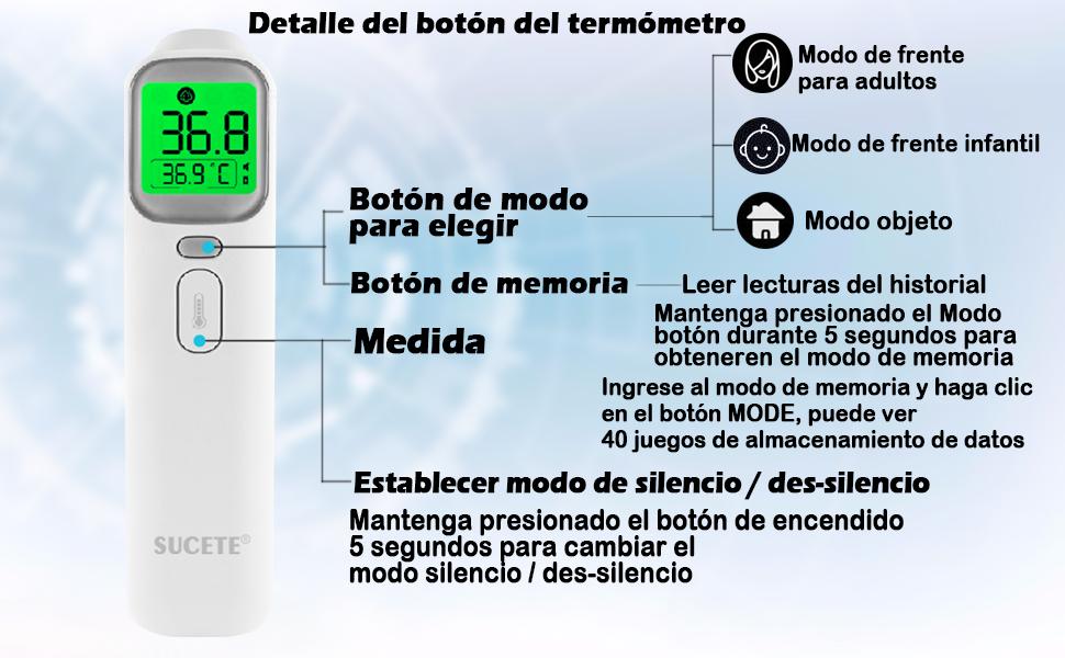 termometro sin contacto sucete
