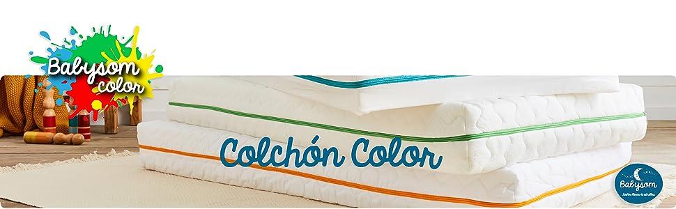 Antiasfixia 60 x 120 cm Reglaje T/érmico Transpirable Babysom Natural 1 Protector de colch/ón impermeable DE REGALO Colch/ón Cuna Beb/é Bamb/ú