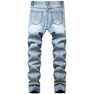 boys skinny jeans vintage america jeans hip hop jeans Light Blue jeans relaxed fit jeans