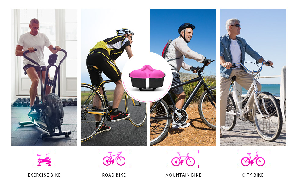 ANZOME silicone bicycle seat cover is suitable for most types of sports bikes