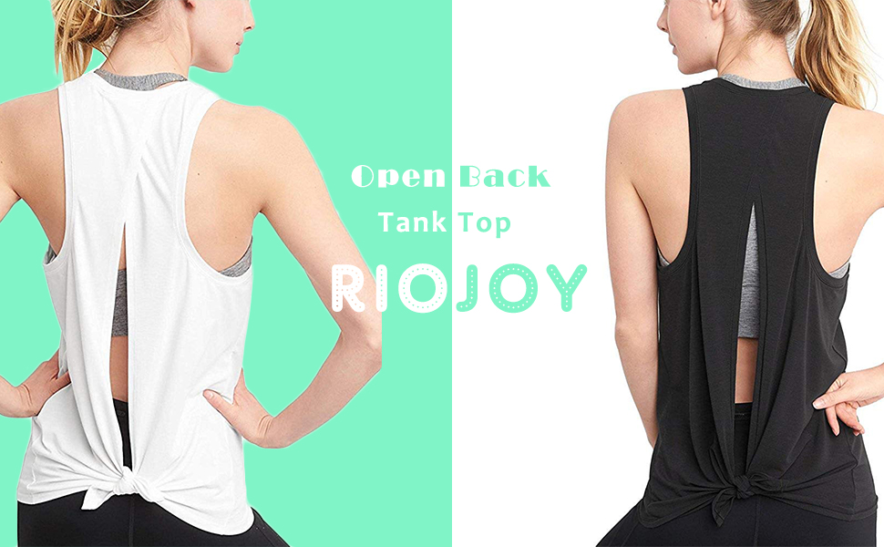 Sexy Open Back Yoga Workout Tops