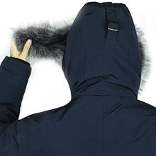 detachable fur hood