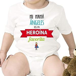 Regalo personalizado: body para bebé o camiseta infantil Abrazos de mi mamá personalizable con nombre: Amazon.es: Bebé