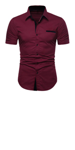 slim fit casual button down shirt