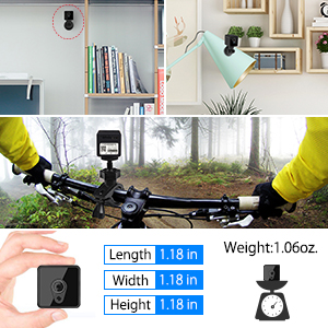 1080P WiFi Mini Camera: Two Gifts Used For Anywhere