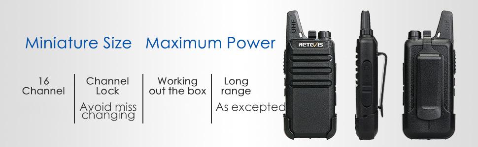 lightweight and mini two way radios