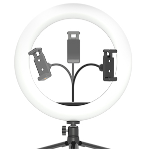 10''LED Ring Light with Tripod Stand & Adjustable Phone Holder