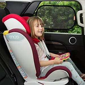 UPF50+ Blocks Full UV Protection 2 Pack INFANZIA Car Window Shade Car Window Privacy Shade Toddler Car Seat Sun Shade Universal Fit 4350390071