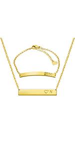 Initial Necklaces Bracelets