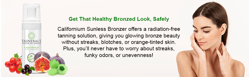 Safely Californium Sunless Bronzer offers a radiation-free tanning solution