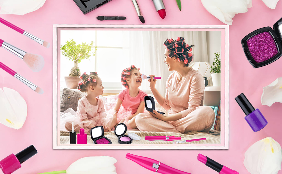 kids pretend play makeup kit for girls