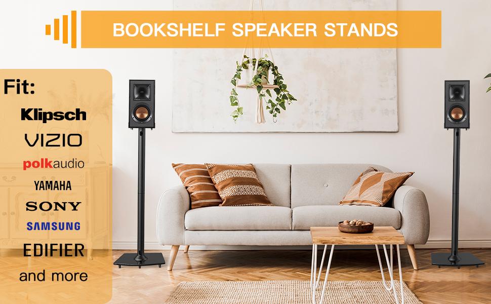 Bookshelf speaker stands for satellite & computer speakers