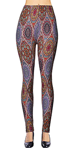 print leggings affordable cheap soft brushed stretchy unique designs