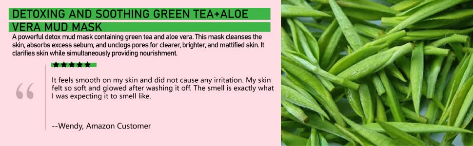 hebepe green tea mud mask