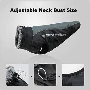 dog coat adjustable size