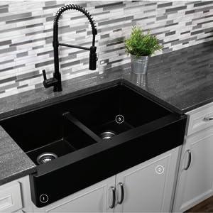 Karran QAR Farmhouse Kitchen Sink
