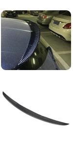Benz A Class A180 A200 A250 A45 AMG Hatchback Carbon Fiber Rear Top Lip Visor Wing Sun Shade