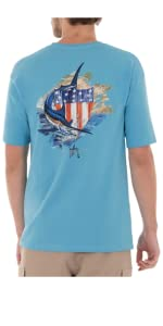 guy harvey, short sleeve top, mens short sleeve, fishing tee, casual t-shirt, mens top, apparel men