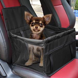 X Autohaux Hunde Autositz Für Kleine Mittlere Hunde Wasserdicht Vordersitz Hundesitz Autositzbezug Mit Verstärkte Wände Für Haustiere Reise Schwarz Haustier