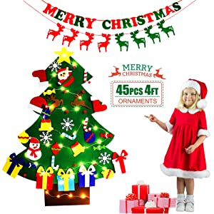 DIY Christmas Tree with LED String Lights