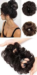 Messy Bun Hair Piece Human Hair Bun Extensions Messy Bun Hair Scrunchies Scrunchy