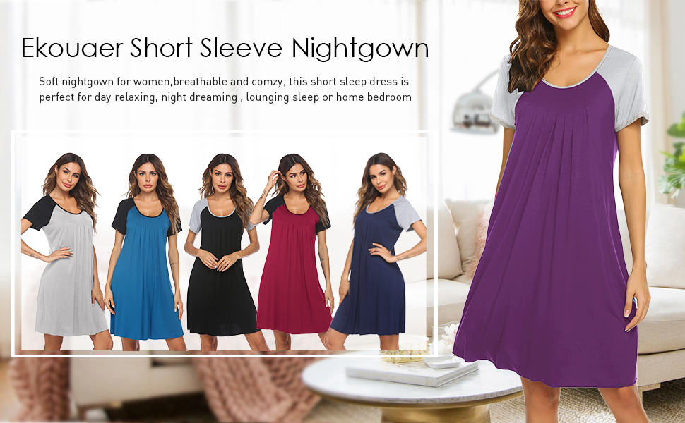 Six colors nightgowns