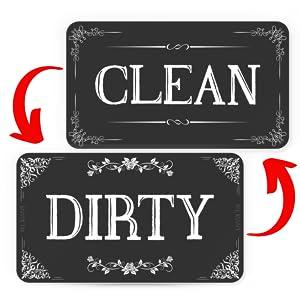 Dishwasher Magnet Clean Dirty Flip Sign Universal Kitchen Dish Washer Reversible Indicator