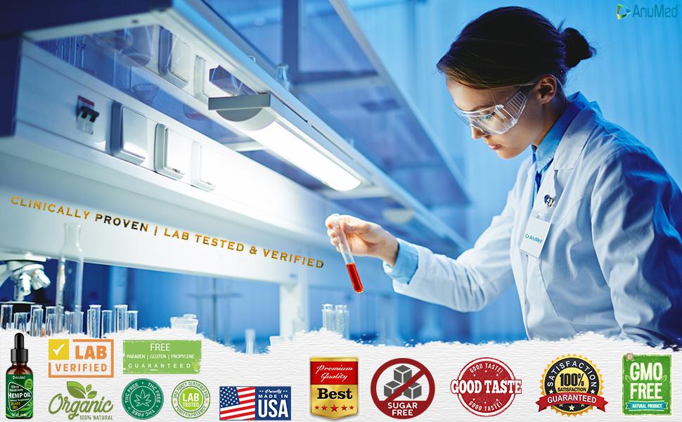 Anumed Hemp Oil |  Lab Tested & Verified