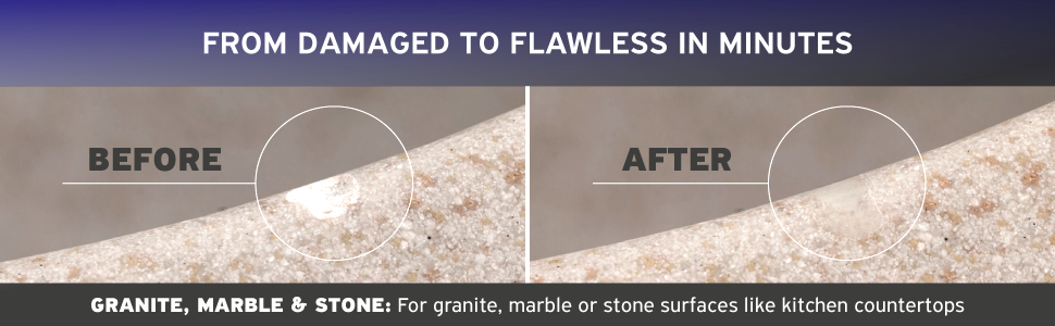 Granite Marble Stone Repair Kit Fix Chips Defects In