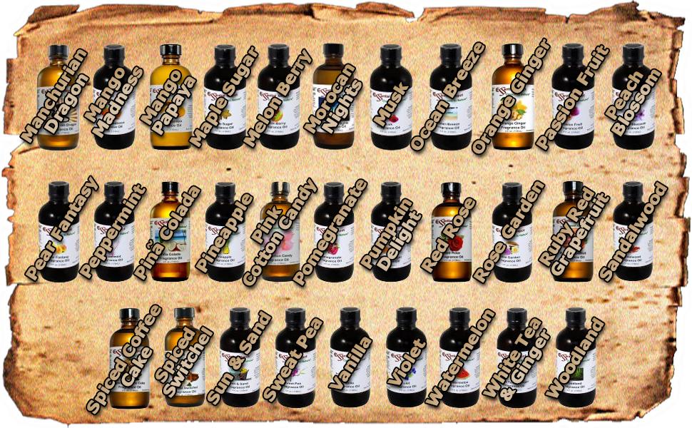 Fragrance Oils M to Z